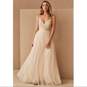 BHLDN Needle & Thread Emma Ditsy Cami Maxi Dress